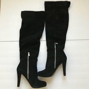 Michael Kors Adena Black Suede boots